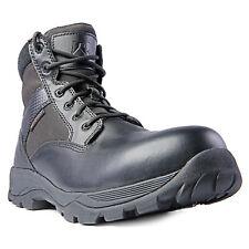 "Ridge calzado para hombre Max Pro 6"" Mid Botas De Cuero Negro Impermeable Cremallera Ctz"