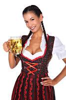 L1205 - 3 pc Dirndl Dress Trachten Oktoberfest 4,6,8,10,12,14,16,18,20,22