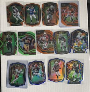 13x 2020 Select Football Die Cut Lot - Orange/Blue/Green/Checkerboard - Allen++