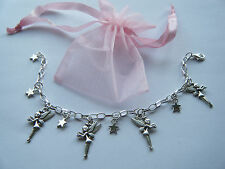 Tinkerbell Theme Fairy Charm Bracelet Girls Party Bag Filler Gift Peter Pan