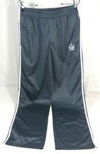 Vertical Mens Xl Gray with White Stripes 100% Polyester Sweatpants