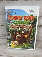 Nintendo Donkey Kong Country Returns (Nintendo Wii, 2010) FREE SHIPPING Complete
