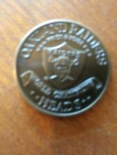1977 OAKLAND RAIDERS NFL Toss Coin VINTAGE Heads Tails  World Champions Mint*