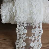 1Yd Floral Tulle Lace Trim Embroidered Handcraft Dress Headband Sewing Edge DIY