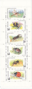 BELGIAN BOOKLET : 1996 Insects   SGSB59 MNH