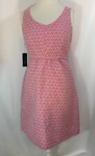 I Love Ronson A Line Keyhole Pink Fuchsia Sunday Brunch Dress Sz M Nwt $66