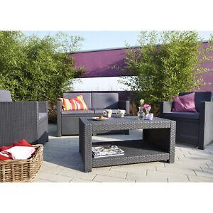 "Sitzgruppe ""Monaco"" Allibert Lounge Set Terrassenmöbel Garten Möbel Gartenmöbel"