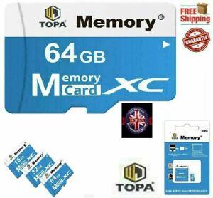 Ultra Micro SD Card 16GB 32GB 64GB 128GB Class 10 Memory Card with Adapter UK