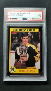 1991 Score Bobby Orr Award Winner PSA 7