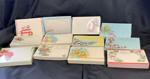 """Vintage Greeting Card Lot Gift Enclosure Small Miniature Unused NOS 1940'S 3.5"""""""