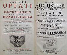 Optatus 1702 +1733 RARE Augustinus church schism Donatists map plates