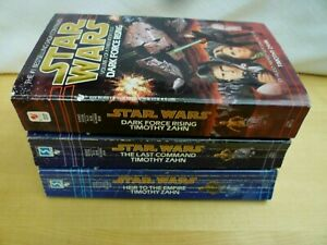 STAR WARS HEIR to EMPIRE Trilogy, Dark Force Rising, Last Command Books 1-3 Set