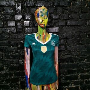 Germany Team Jersey Away shirt 2018 - 2019 Green Adidas Trikot Woman Size S