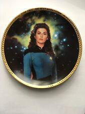 New Hamilton Star Trek Next Generation Counselor Trio Collector Plate Coa 23K