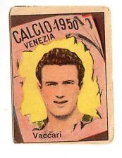 CALCIO FIGURINA  CALCIATORI   VAV  CAMPIONATO 1950  VENEZIA   VACCARI