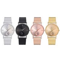 Fashion Alloy Belt Mesh Watch Unisex Women watches Minimalist Style Quartz Watch