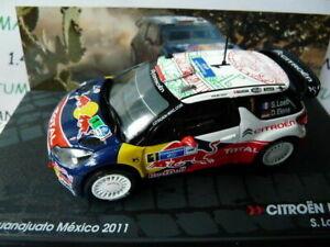 RIT36E voiture 1/43 IXO Altaya Rallye : CITROËN DS3 WRC LOEB 2011 Mexico