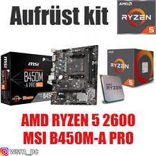 PC Bundle Kit Set ❤ AMD Ryzen 5 2600 ✔ MSI B450 Mainboard ✔
