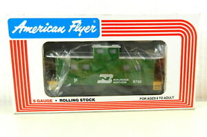 AMERICAN FLYER/Lionel S Scale #6-48706 BN Square Window Caboose Lighted NIB T140