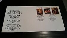 FALKLAND ISLANDS 1981 SG 409-411 CHRISTMAS  FIRST DAY COVER