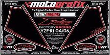 Yamaha YZF R1 2004 05 06 Motografix Front Fairing Number Board 3D Gel Protector