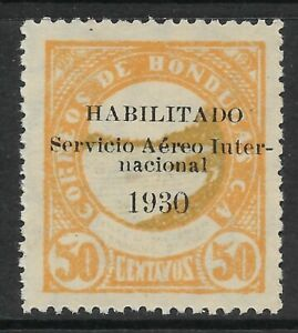 STAMPS-HONDURAS. 1930. Air. Variety Blue Green Colour Omitted. SG: 281 var. MNH