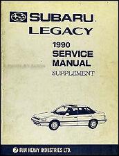 1990 Subuaru Legacy AC Shop Manual Air Conditioner Conditioning Repair Service