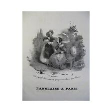 PANSERON Auguste L'Anglaise à Paris Chant Piano ca1830 partition sheet music sco