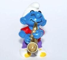 """20436-""""Saxophonschlumpf""""-""""Saxophone Smurf""""-Schleich-NEU -NEW-Smurf perfect !"""