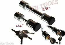 "5/8"" Hitch Pin Locking Trailer Pin Lock & 1/4"" Coupler Lock Trailer 4pc Key Lock"