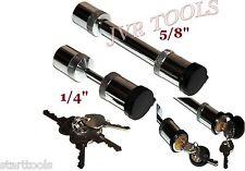 """5/8"""" Hitch Pin Locking Trailer Pin Lock & 1/4"""" Coupler Lock Trailer 4pc Key Lock"""