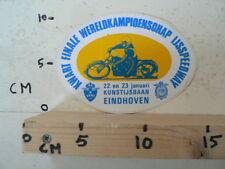STICKER,DECAL EINDHOVEN KWART FINALE WK 22/23 JAN  IJSSPEEDWAY ICE SPEEDWAY A
