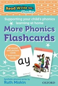 Phonics Flashcards Words Sounds Speak Write Read Colour-Coded Literacy Skills