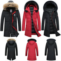 Casual Long Winter Warm Goose Down Jacket Feather Coat Black M,L,XL,2XL,3XL