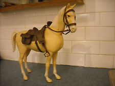 VINTAGE MARX BEST WEST KNIGHT WAR HORSE VIKING DRAFT NODDING PALMINO WHEELS TACK