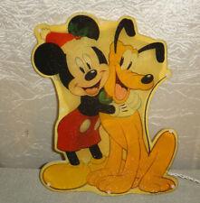 Disney Christmas Glitter Glow Mickey and Pluto Window Light Indoor Outdoor 1997
