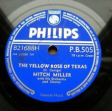 0311/ MITCH MILLER -The yellow rose of Texas-Blackberry winter-COUNTRY-Schellack