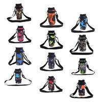 500ml Sports Water Bottle Sleeve Holder Nylon Bag Case Shoulder Strap Pouch