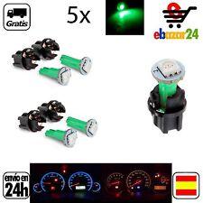 5x LED VERDE luz 12 V Panel de Control Cuadro bombilla PC74 T5 Coche  *Envío GRA