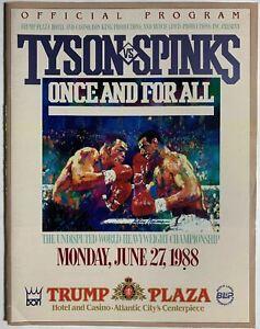 Mike Tyson vs Michael Spinks on-site BOXING program Vintage Fight Memorabilia