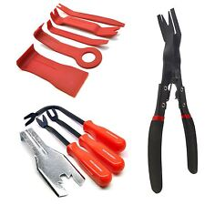 5pc Plastic & Metal Trim Car Panel Removal Tools And Pliers Non Scratch
