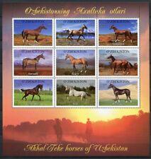 Usbekistan Uzbekistan 2012 Pferde Achal-Tekkiner Horses 1025-1033 Postfrisch MNH
