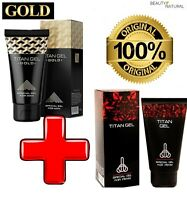 ⭐️⭐️⭐️⭐️⭐ SET 2 x 50 ML ORIGINAL MENS TITAN GEL PENIS ENLARGER / ENLARGEMENT