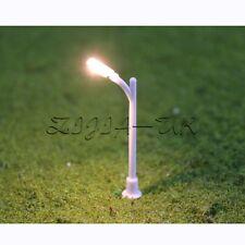 20pcs Z Gauge 1:200 Scale Model Lamp Lamppost Single Head Light for Street Park