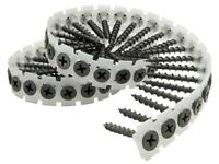 1000 PCS PICARDY COLLATED DRYWALL SCREWS BLACK PHOSPHATE PHILLIPS HEAD - 6 SIZES