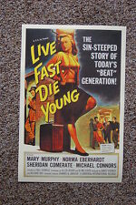 Live Fast Die Young Lobby Card Movie Poster Mary Murphy