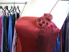 DEBUT/DEBENHAMS WINE RED ROSE CORSAGE LONG BRIDESMAID/PROM/EVENING DRESS  10/12