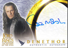 LORD OF THE RINGS RETURN OF THE KING AUTOGRAPH CARD DENETHOR