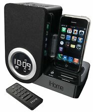 iHome IP41 Rotating Alarm Clock For the iPhone and iPod *NO REMOTE*
