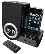 Reloj Despertador Ihome IP41 giratorio para el iPhone e iPod * Sin Control Remoto *